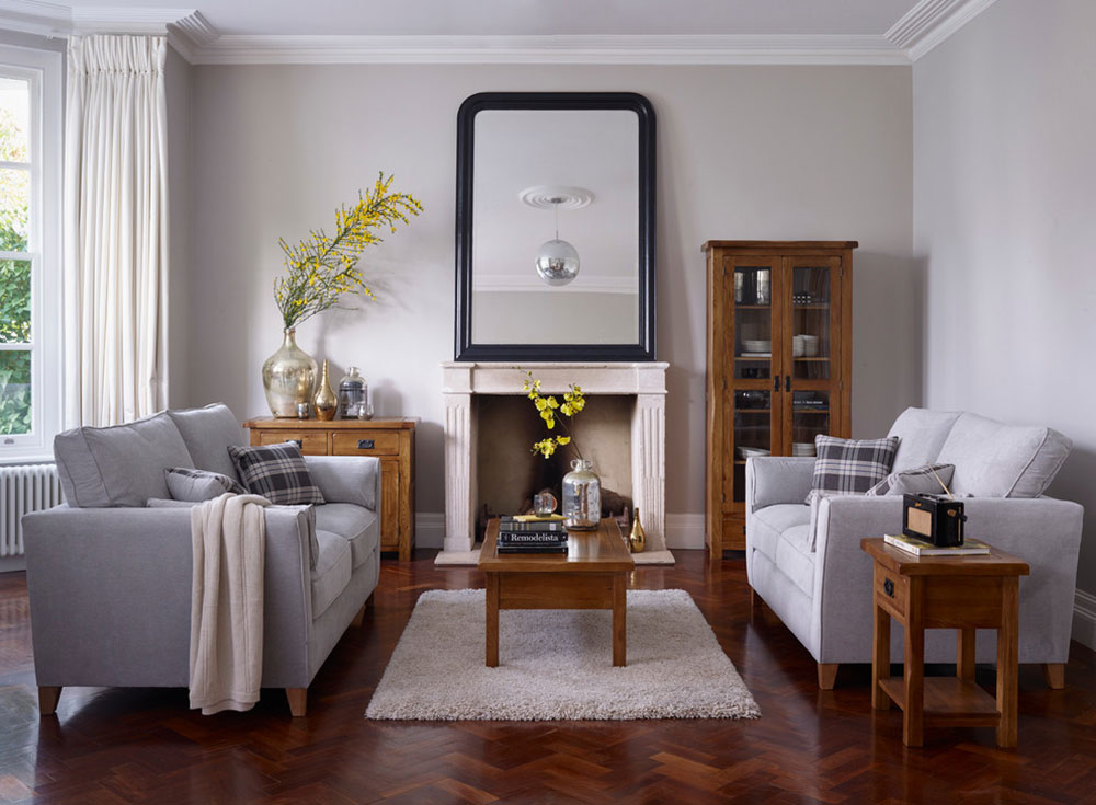 Original-Rustic-Living-Room-by-Oak-Furnitureland How to put a carpet in a living room so that the place looks fantastic