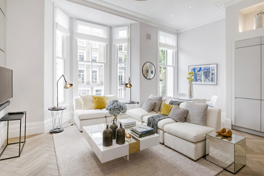 Cathcart-Road-Chelsea-SW10-London-by-Catherine-Wilman-Interiors How to put a rug in a living room so the place looks fantastic