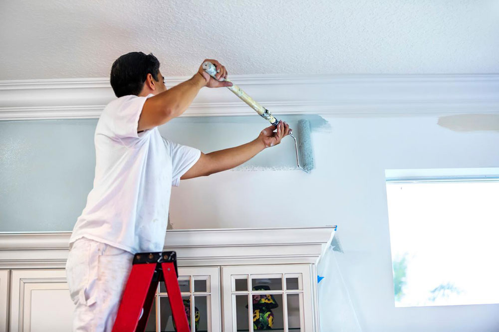 Painting How to paint high walls and do a great job