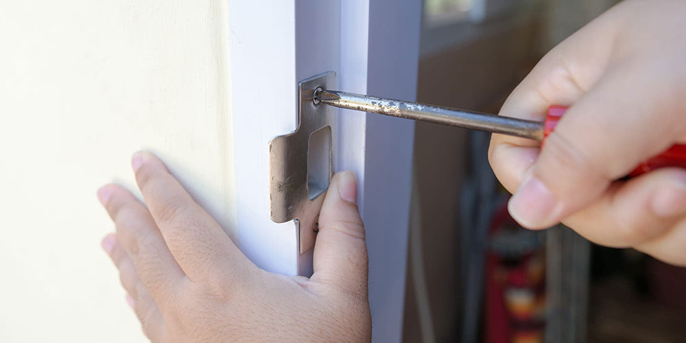 Strike plate How to improve the security of your front door without spending a fortune