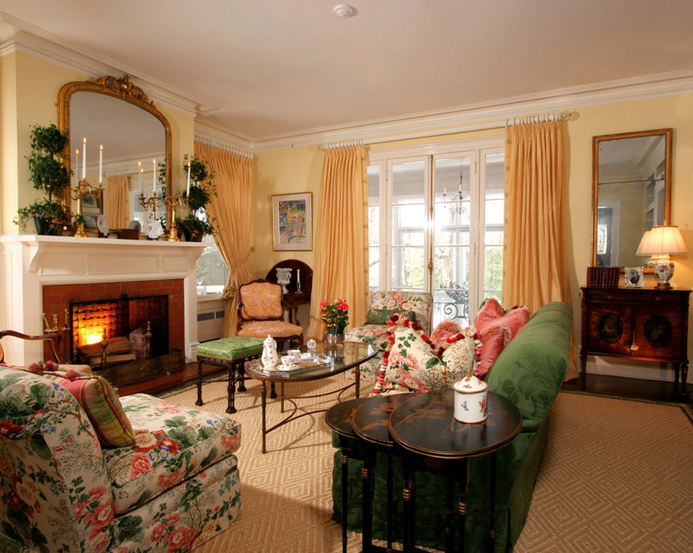 Classically designed living room by J. Stephens Interiors How to put a carpet in a living room so that the place looks fantastic
