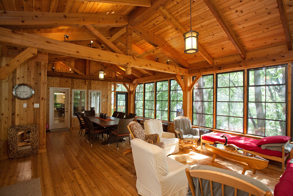 A-room-in-the-trees-by-Jim-Bell-Architectural-Design-Inc.  What is the standard ceiling height for a house?  (Replied)