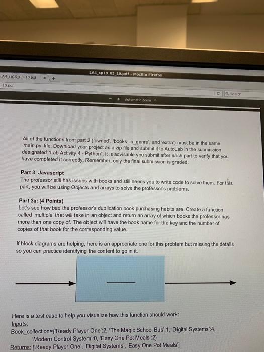 "Solved: LA4 Sp19 03 10.pdf. Mozilla Firefox 10 Pdf C"" | |Q ."