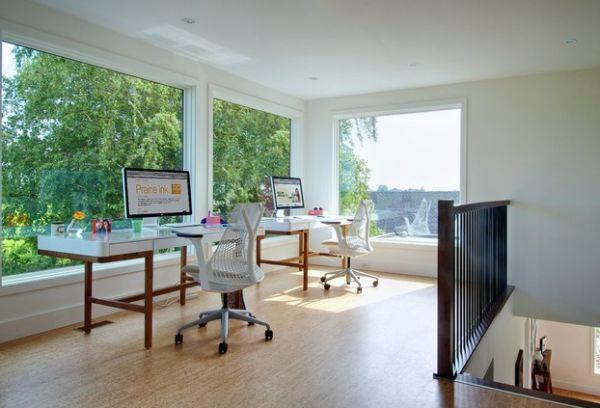 20 Space Saving Office Designs with Functional Work Zones for T