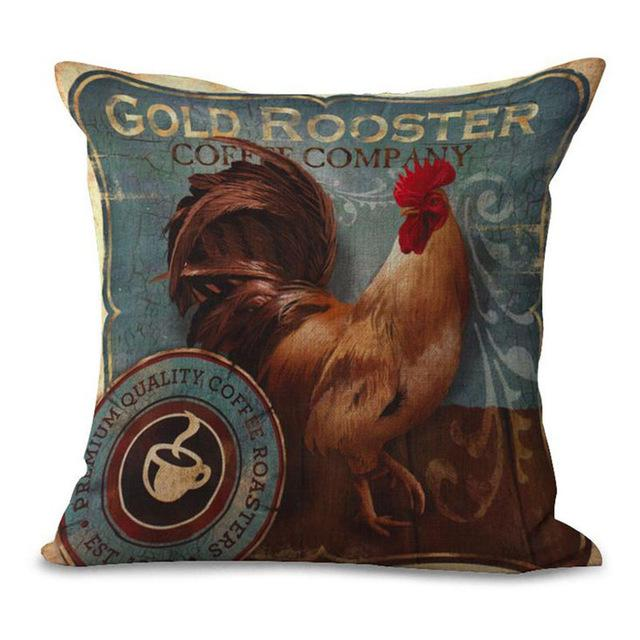 Vintage Rooster Pillow Cover | Bed pillows decorative, Pillows .