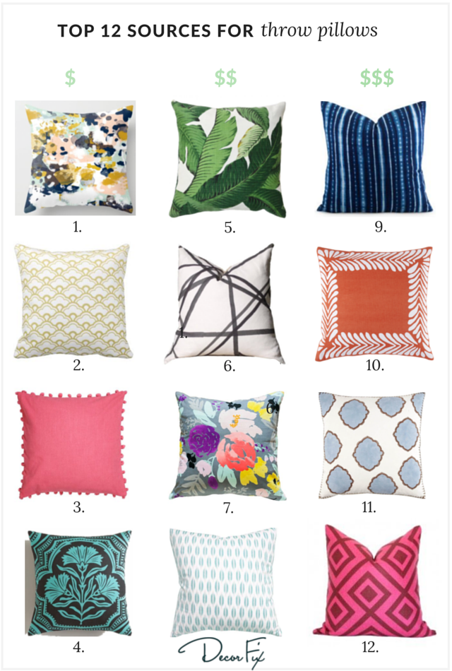 12 DIY ideas for decorative pillow cases