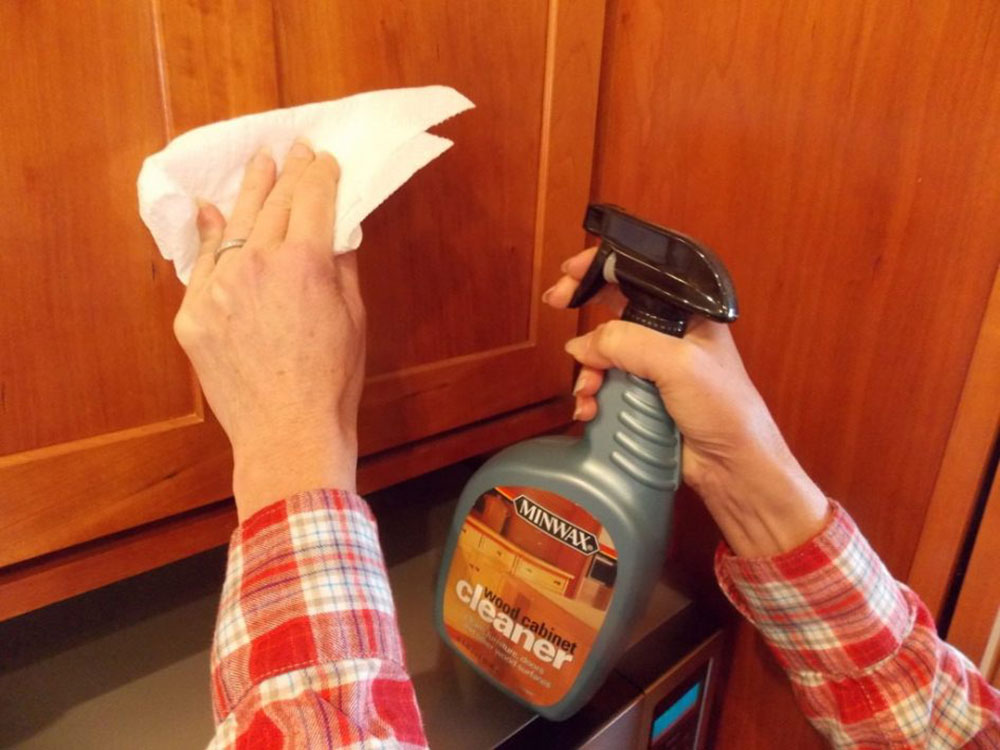 clean grease How to paint kitchen cabinets without sanding