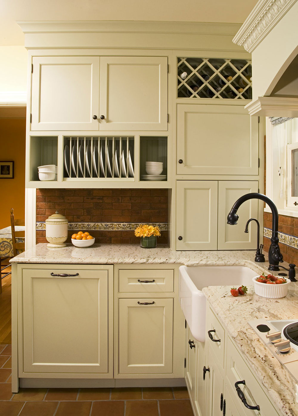 Sage-Green-Inset-Door-Kitchen-by-Kayron-Brewer-CMKBD-Studio-KB How to update kitchen cabinets without replacing them