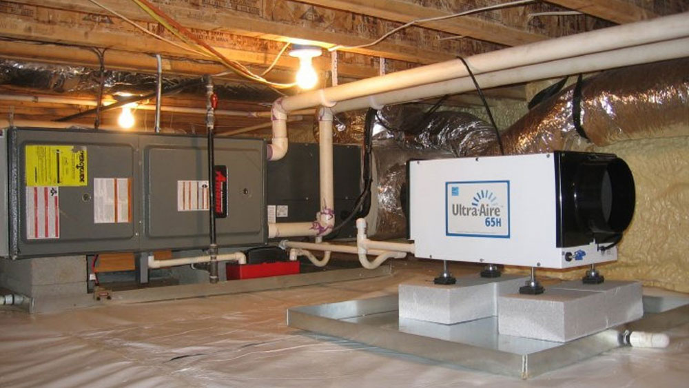 crawl1 Use a crawl space dehumidifier to handle your crawl space air