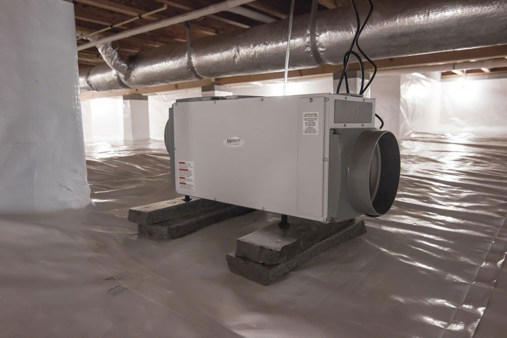 Humidifiers Use a crawl space humidifier to handle your crawl space air