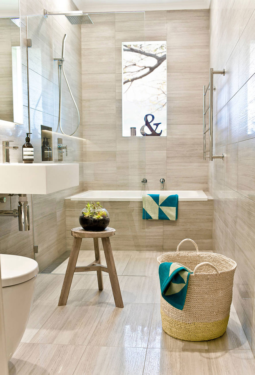 Tim-Ditchfield-Architects-from-GIA-Bathroom-Kitchens Where to hang wet towels in a small bathroom