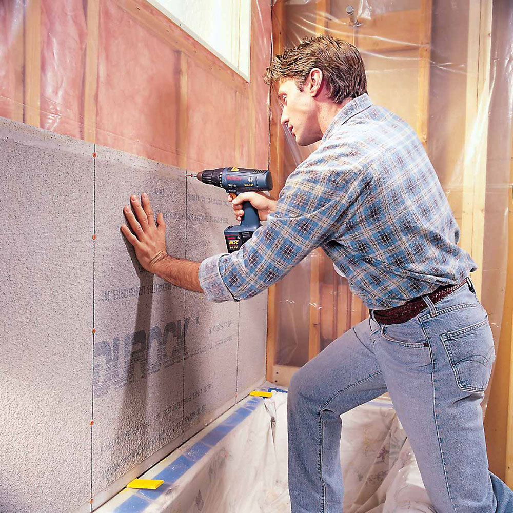 Cement plate How to prepare shower walls for tiles (easy to follow instructions)
