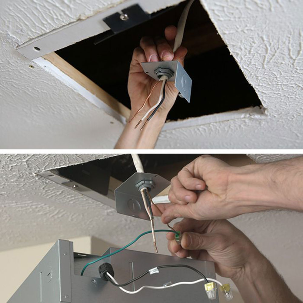 Wiring How to install a bathroom fan without access to the attic