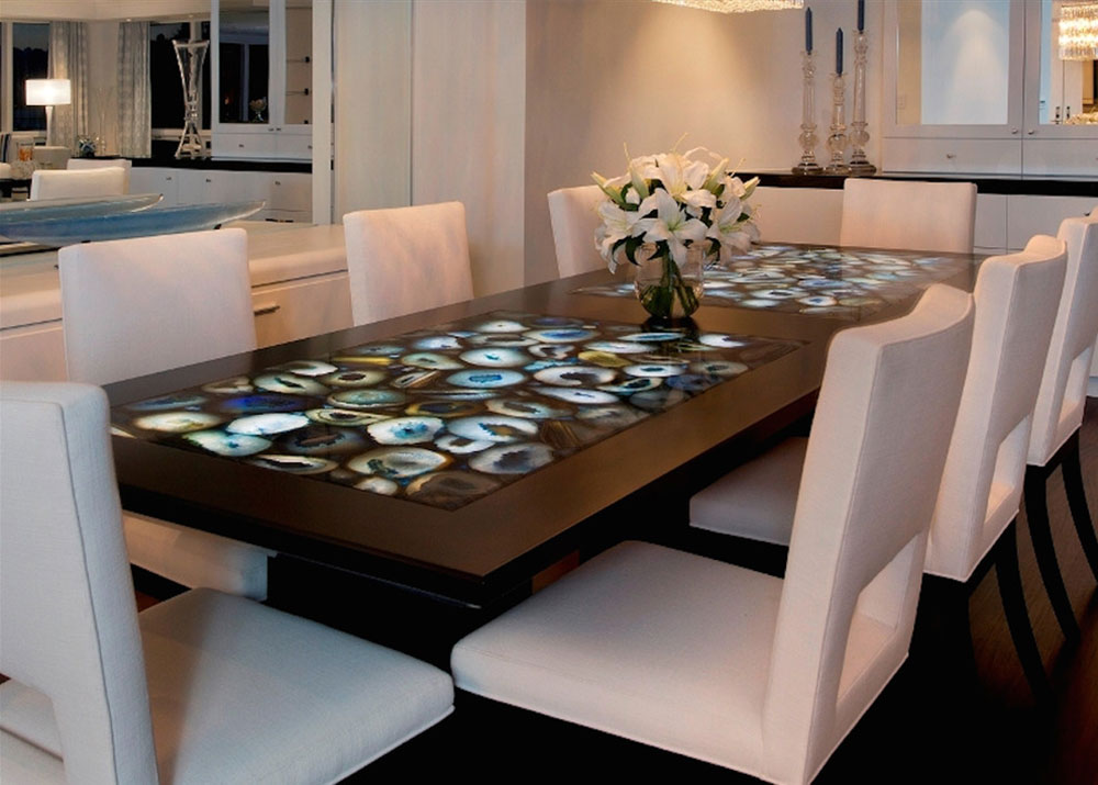 Precioustone-Blue-Agate-from-Pompeii-Quartz-Precioustone-Vetrazzo-Sapienstone The best 70s interior design and decor tips that you can use