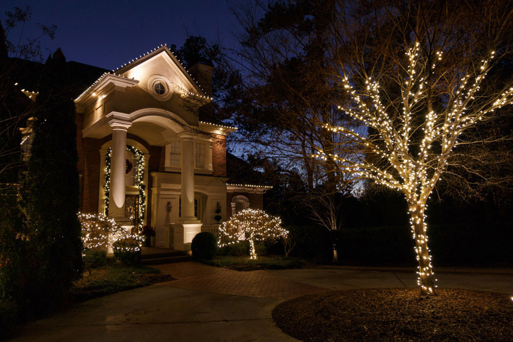 Duluth-GA-Christmas-Lighting-Project-at-NightVision-Outdoor Lighting Ideas for outdoor Christmas lighting that you can use to decorate your home