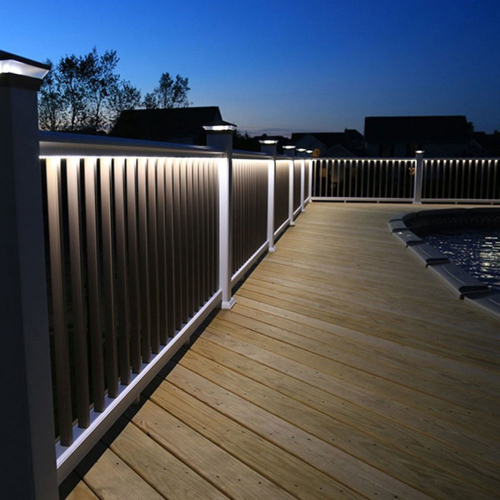 T-Top Deck Railing-Kits-with-LED-Post-Cap-and-Under-Rail-Lighting-from-Snavely-International Fantastic deck lighting ideas that you can use in your home