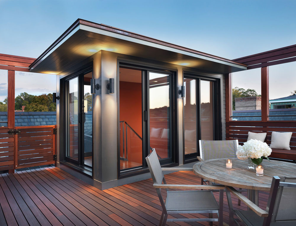 Rooftop Mahogany Deck by Flavin Architects Fantastic ideas for deck lighting that you can use in your home
