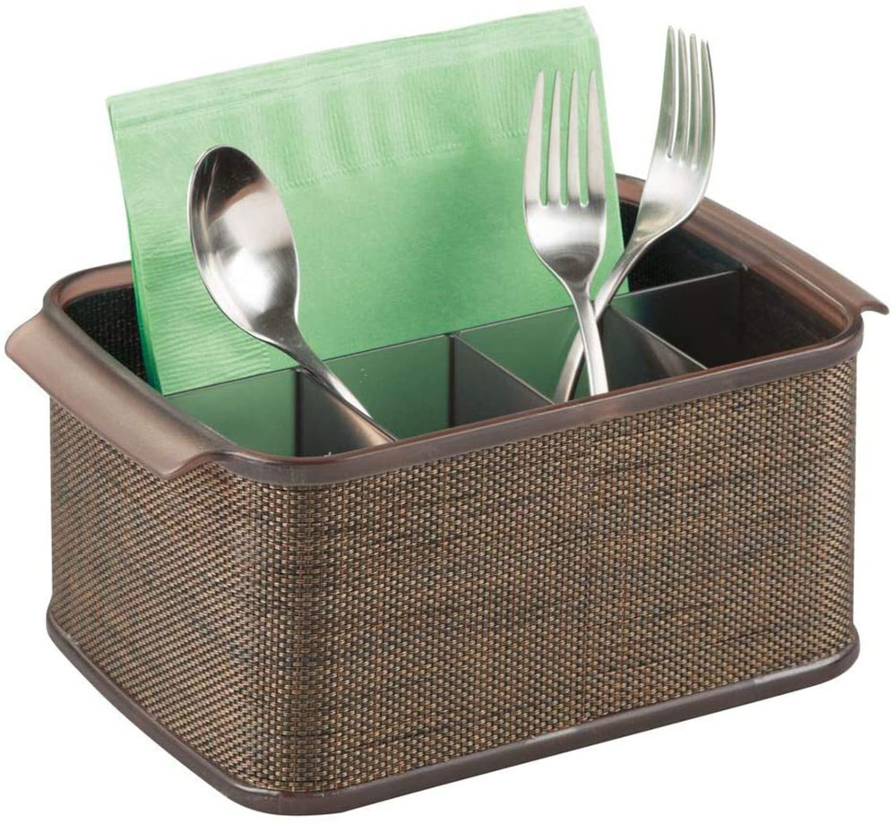 mDesign plastic cutlery storage organizer What is the best kitchen utensil holder out there?