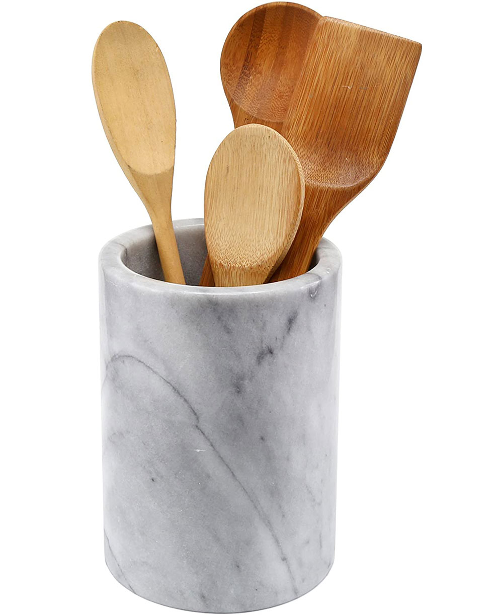 Marble Kitchen Utensil Holder What is the best kitchen utensil holder out there?