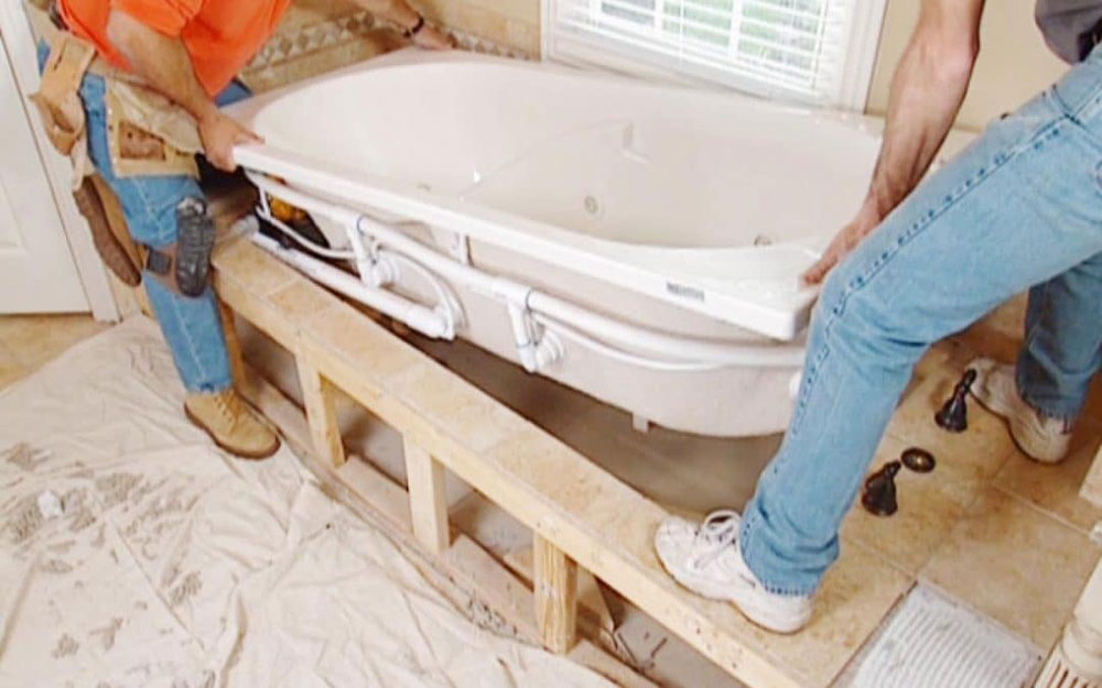 Wooden frame How to install a bathtub correctly and without stress