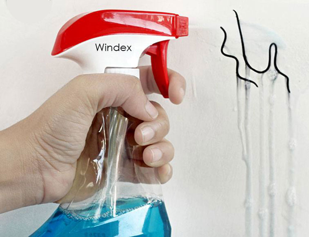 windex How to remove a permanent marker from the walls in just a few steps