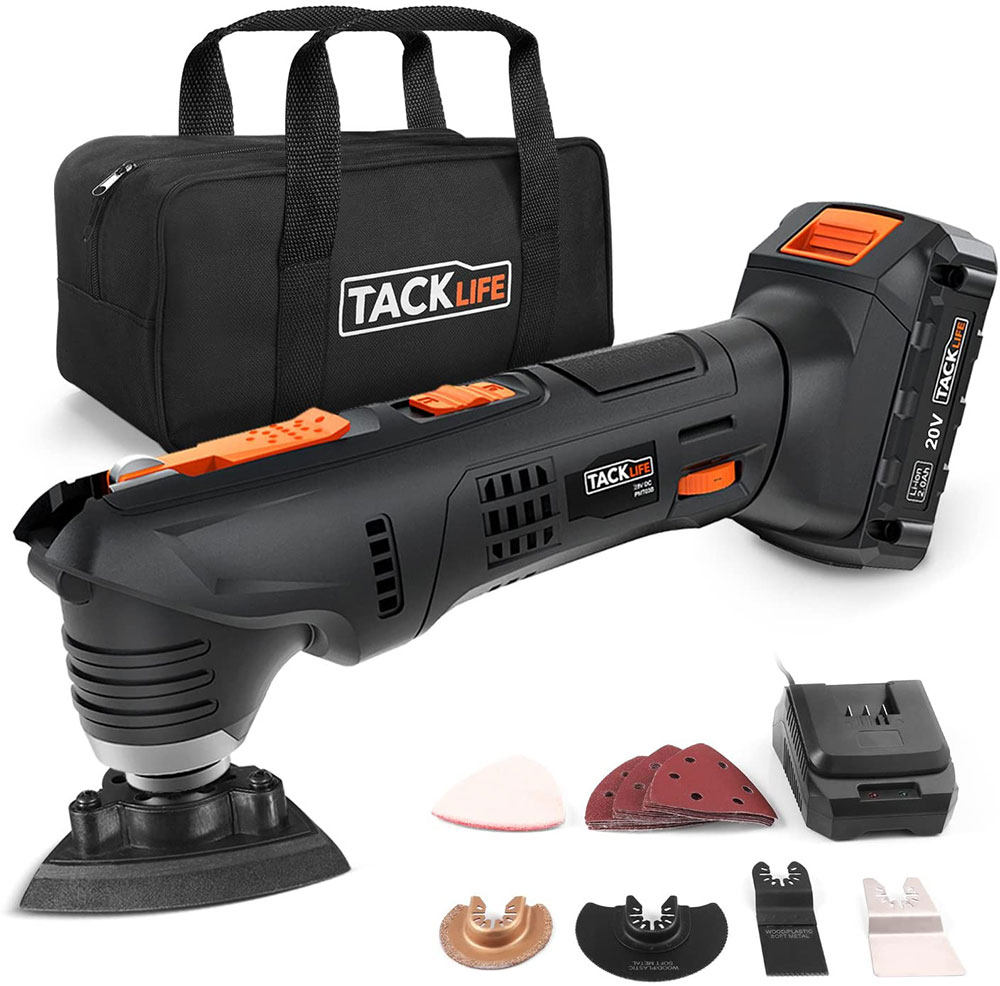 Tacklife-PMT03B-20V Max Cordless Multifunction Tool The best grout removal tool you can get on Amazon