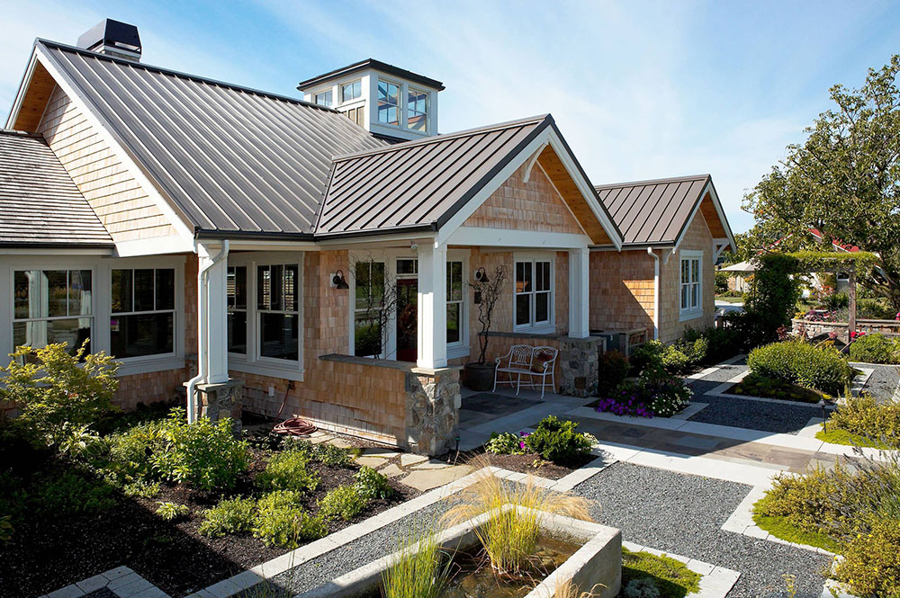 Entrance-Yard-Garden-by-Dan-Nelson-Designs-Northwest-Architects How To Install Metal Roofs Over Shingles (Yes You Can)