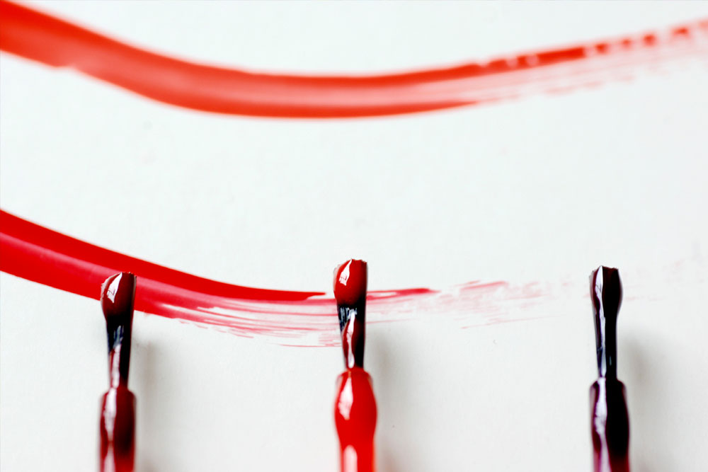 Nagellack1 How to remove nail polish from walls and have clean walls again