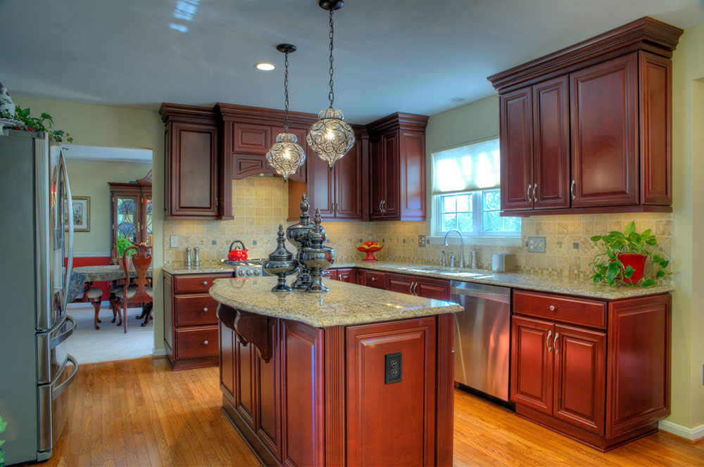 Leesburg-Traditional-Cherry-Kitchen-Close-up-through-Synergy-Design-and-Construction How to Decorate a Kitchen Island (Cool Ideas and Designs)
