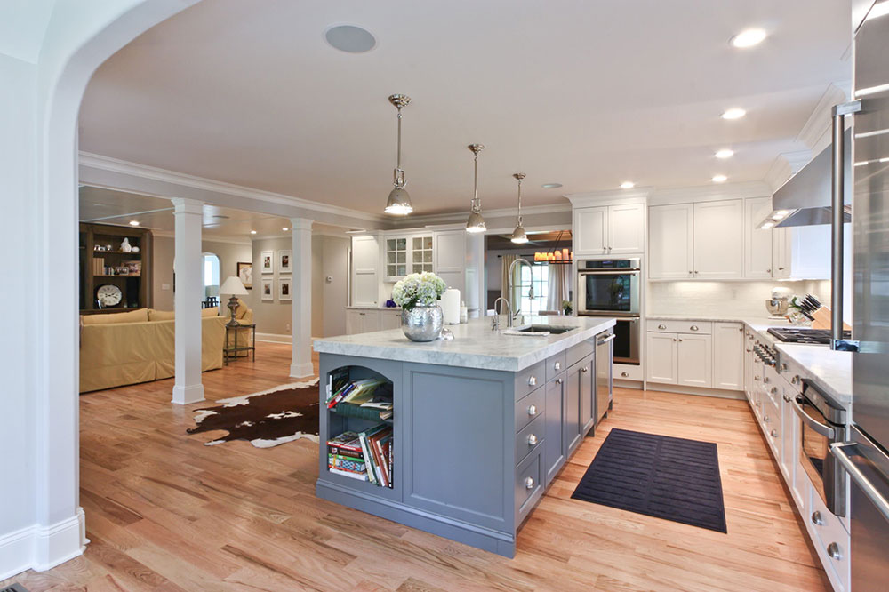 Classic-Coastal-Colonial-Renovation-the-Anti-McMansion-by-Michael-Robert-Construction How to Decorate a Kitchen Island (Cool Ideas and Designs)