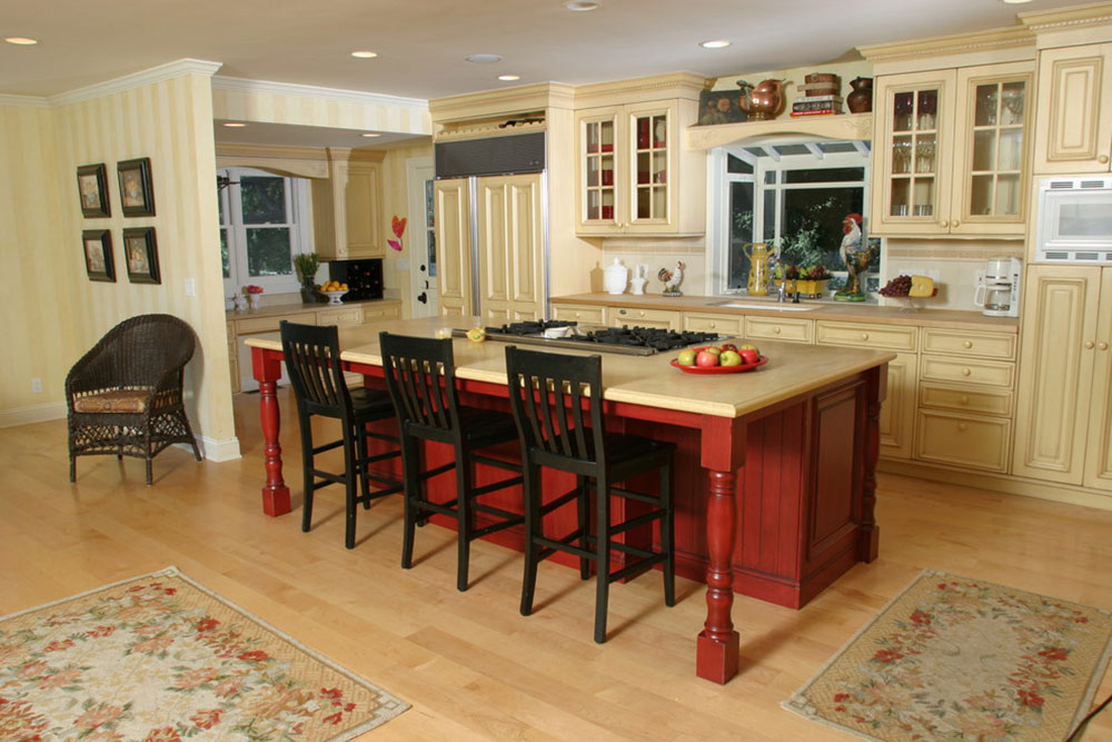 Two-Toned-Traditional-by-DesignArt-Studios How To Decorate A Kitchen Island (Cool Ideas And Designs)