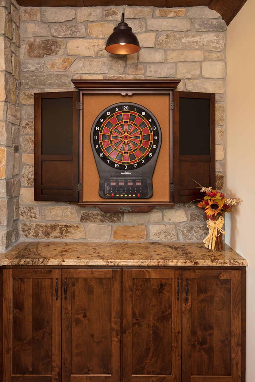 Maple-Lake-Game-Room-von-Plekkenpol-Builders-Inc What to do with old kitchen cabinets (misused cabinets ideas)