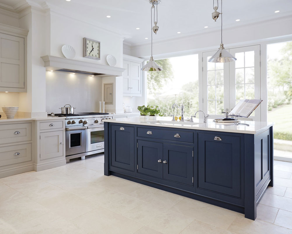 Luxury-Blue-Painted-Kitchen-by-Tom-Howley What to do with old kitchen cupboards (converted cupboard ideas)