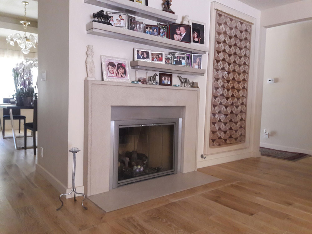 Allison-coat-with-floating-shelves-by-your-coat-company-Inc.  How to decorate a fireplace mantel (neat decorating ideas)