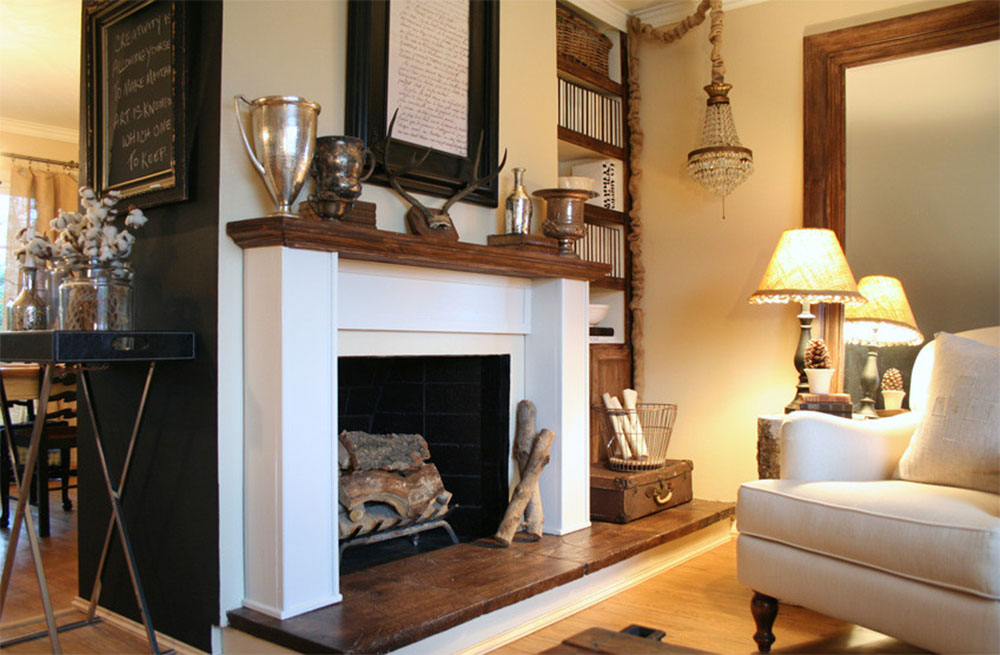 Living room-by-Jennifer-Gray-Interiors-Design-n-Color-Specialist How to decorate a fireplace mantel (neat decoration ideas)