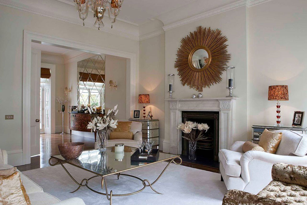 Reception room-von-Siobhan-Loates-Interiors How to decorate a fireplace cladding (neat decoration ideas)