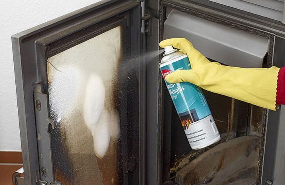 Fire Glass Cleaner How to Clean Fireplace Glass Doors to Look Perfect