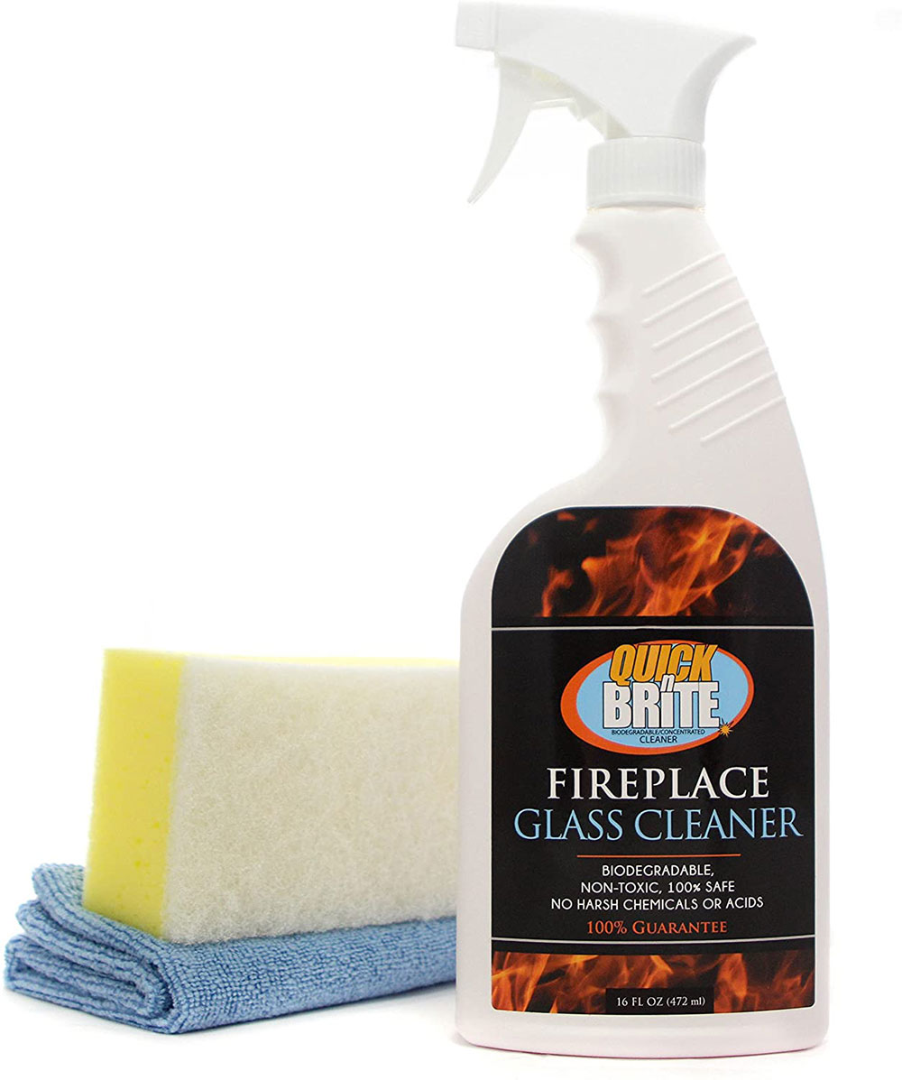 Chimney glass cleaner How to clean chimney glass doors to look flawless
