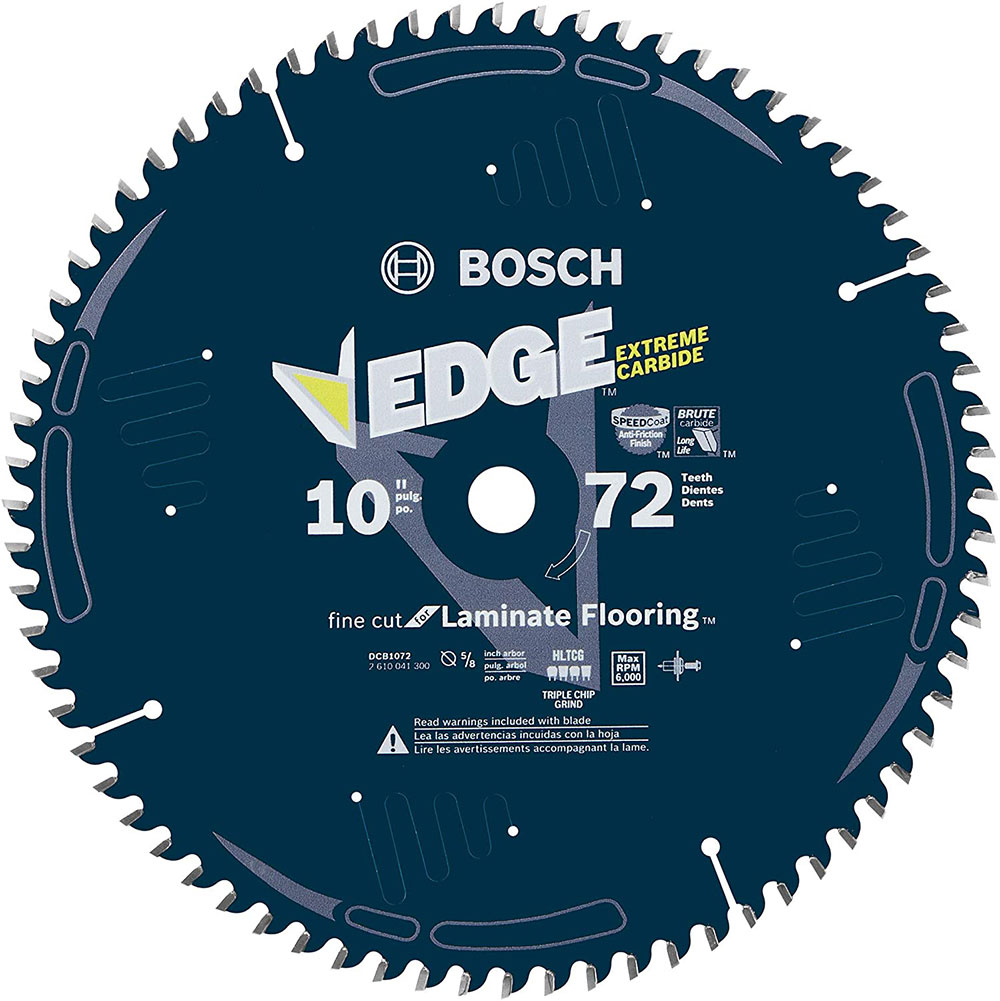 Bosch-DCB1072-Daredevil-10-inch-72-tooth circular saw blade How do I cut a laminate worktop and which circular saw blade should I use?
