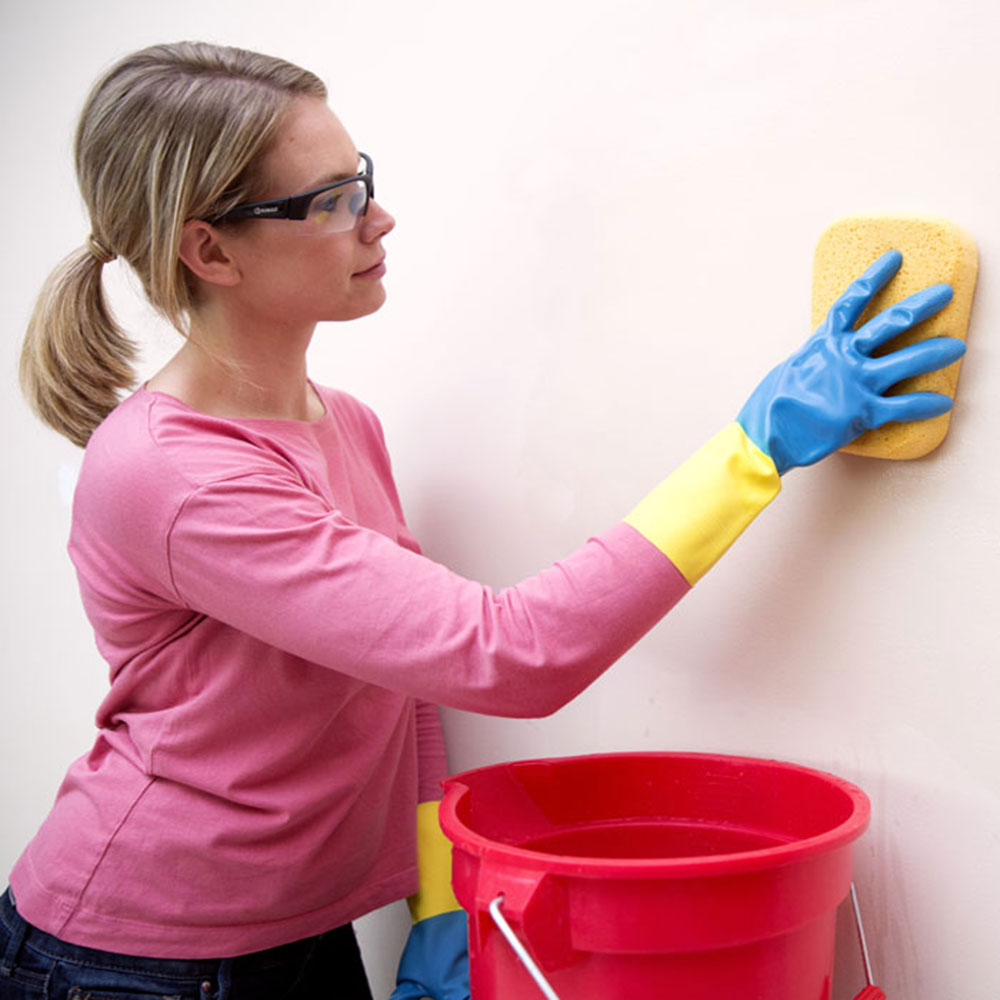 Water How to clean walls with flat paint without ruining them