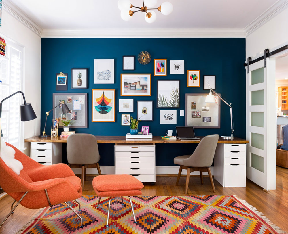 Modern-Eclectic-Office-by-Gina-Sims-Designs Modern home office ideas with which you can create your perfect space