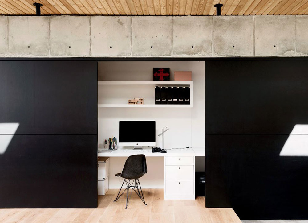 A-Pair-Disappear-Office-With-blackboard paint Modern home office ideas with which you can create your perfect space