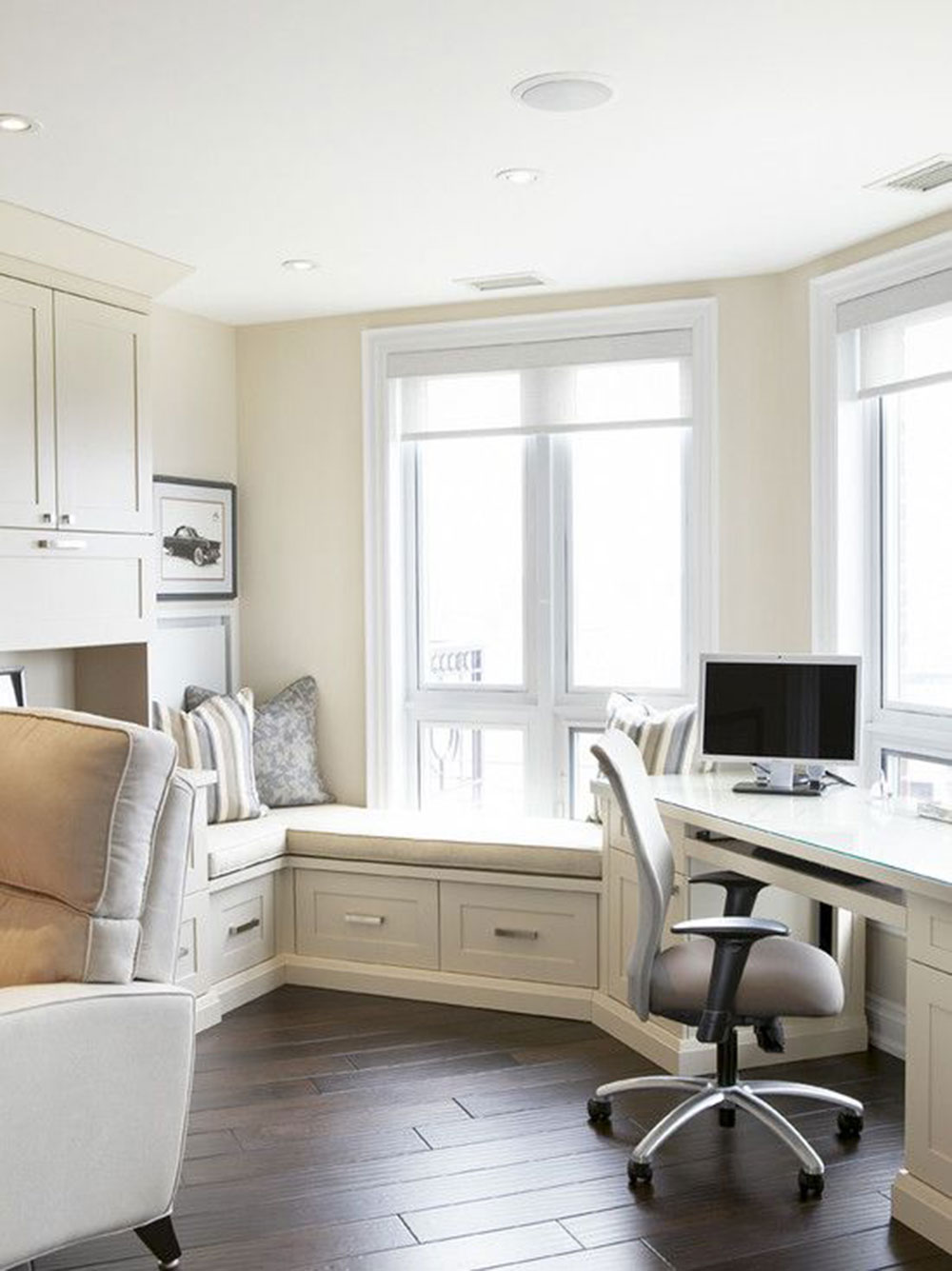 Window seat Modern home office ideas with which you can create your perfect space