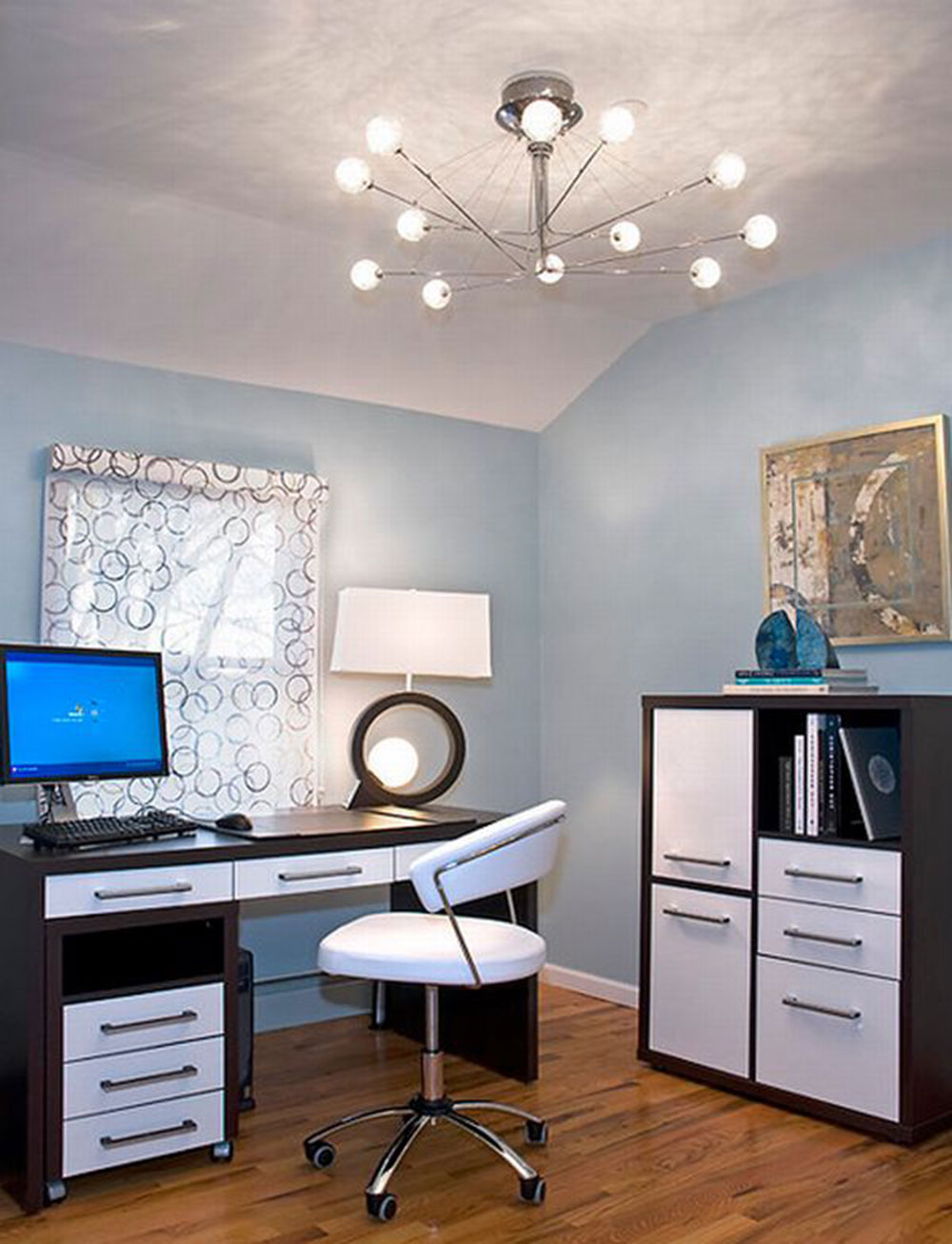 Attractive-and-bright-modern Modern home office ideas with which you can create your perfect space