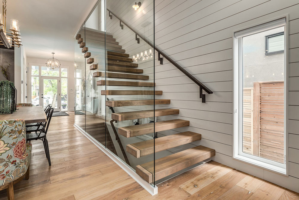 Modern farmhouse in Altadore-by-Trickle Creek designer houses The different types of stairs you should know