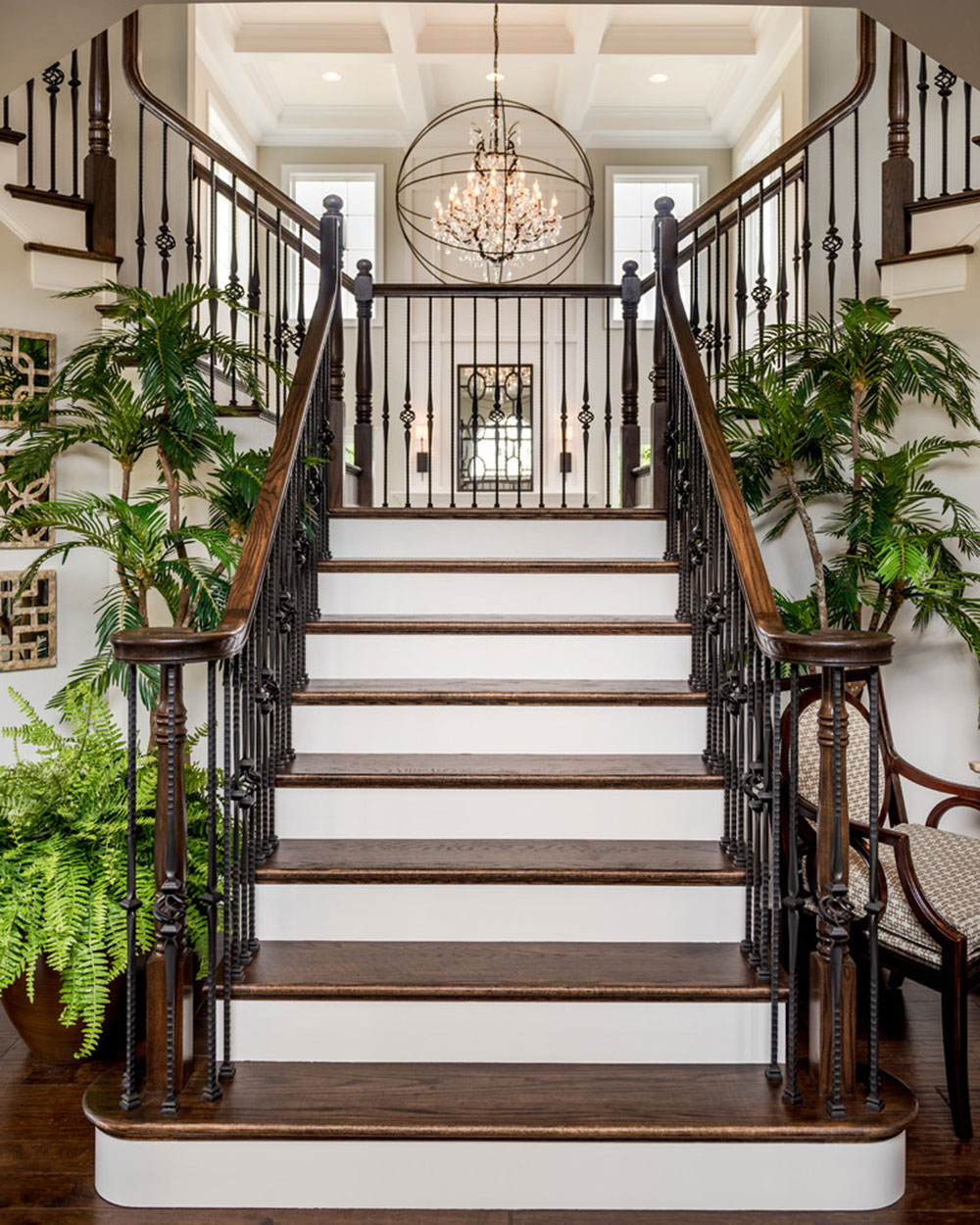 Custom-Home-in-Black-Rock-Estates-by-Custom-Home-Group The different types of stairs you should know