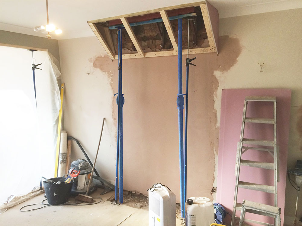 Chimney breast removed How to remove a chimney when you no longer need it