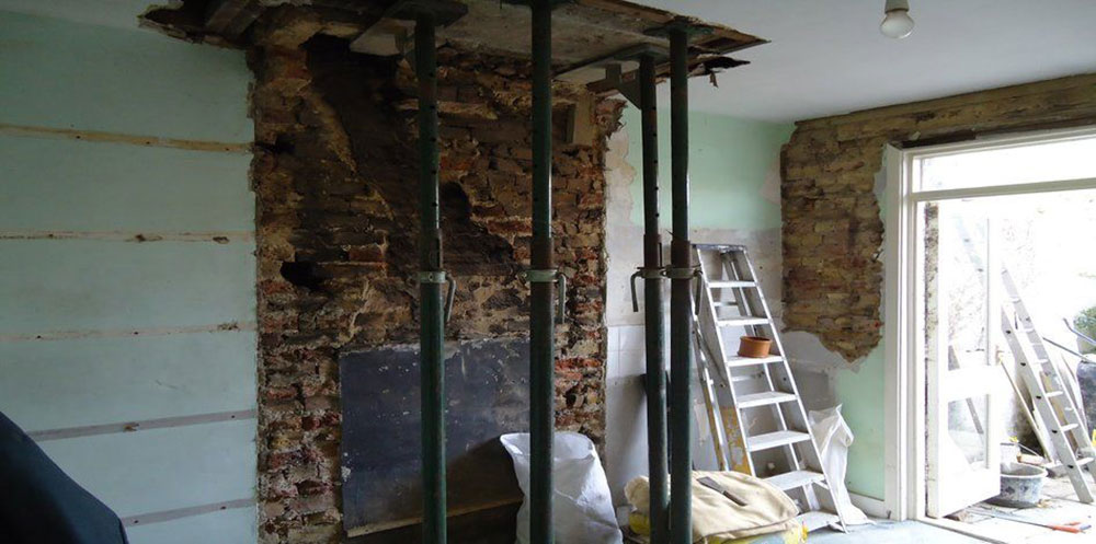 Chimney Breast Remvoal How to remove a chimney when you no longer need it