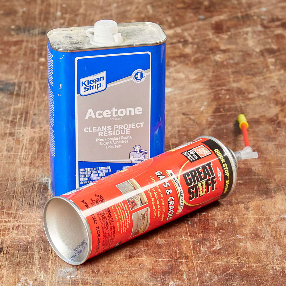 thinner How to remove the foam insulation quickly and easily