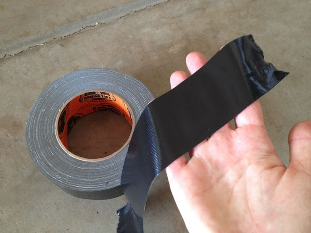 Use tape How to easily remove the fiberglass insulation from the skin